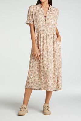 YAYA Dress Print Viscose SHEER PINK DESSIN