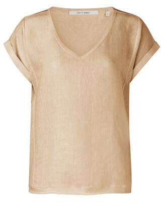 YAYA Top Fabric mix Linen SOFT PEACH