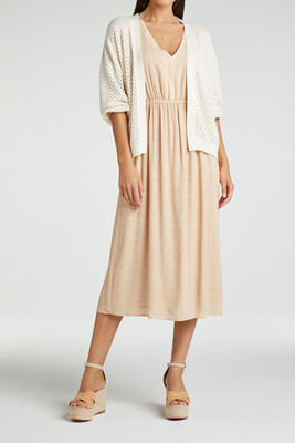 YAYA Dress Print Viscose SOFT PEACH