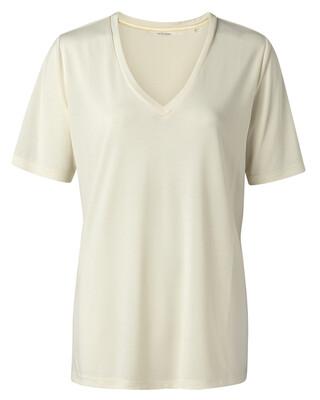 YAYA Shirt V-Neck BUTTERMILK