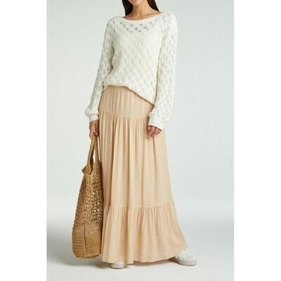 YAYA Maxi Skirt printed  SOFT PEACH