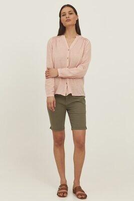 Fransa Shorts Cotton Green