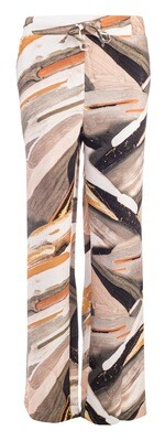 NED Pants Linnenmix Faded Print Sand