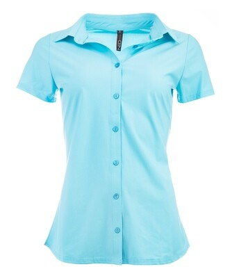 NED Blouse Travel Bright Blue