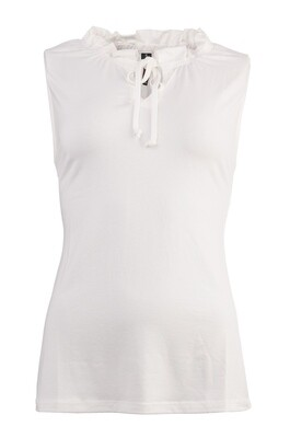 NED Top Tricot White