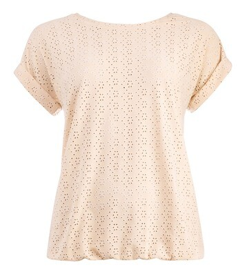 NED Shirt Broderie Tricot Sand