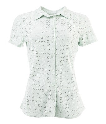 NED Blouse Broderie Tricot Mint