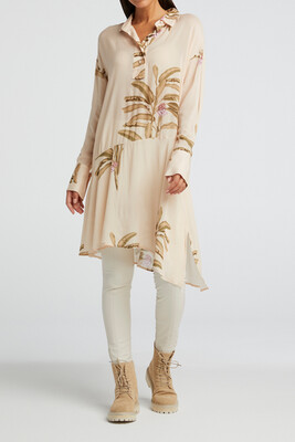 YAYA Dress Viscose Print SOFT PEACH