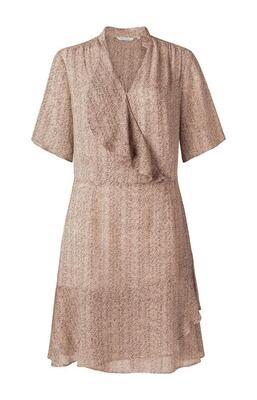 YAYA Dress Printed short ruffle  PALE PEACH