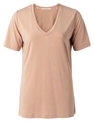 YAYA T-shirt V-neck FADED ROSE