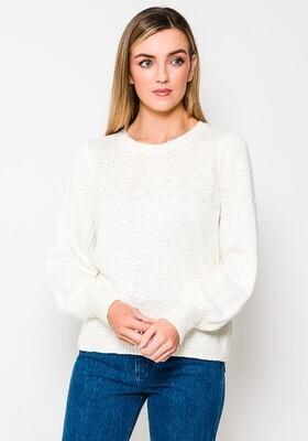 Fransa Pullover Cotton Off White