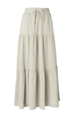 YAYA Maxi Skirt Romantic Cotton BLEACHED SAND