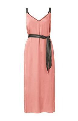 YAYA Dress Maxi Satin ROUGE