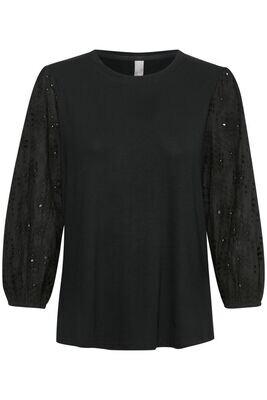 Culture DK Shirt Broderie Viscose Black
