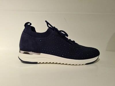 Caprice Sneaker glitter Dark Blue