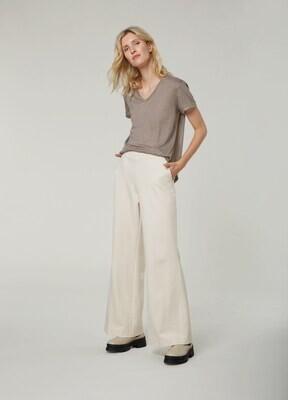 Summum Trousers Bootcut Punto Milano Ivory