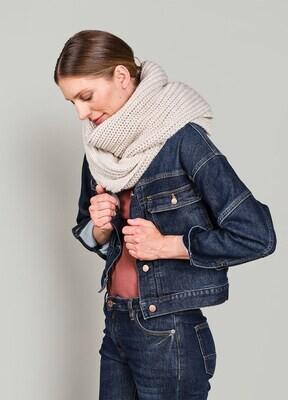 Summum Scarf Chunky Melange Knit Ivory