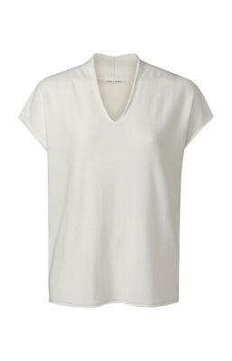 YAYA Sweater V-Neck WOOL WHITE
