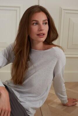 YAYA Sweater Cashmere Blend  ANTARTICA BLUEISH GREY
