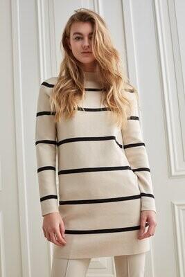 YAYA Dress Stripe / 1800371-122 SOFT BEIGE