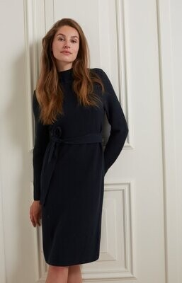 YAYA Dress Cotton Turtleneck / 1800381-122 ANTRACITE BLUE