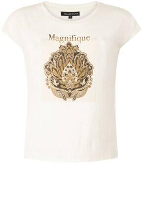 Tramontana t-shirt/ I02-01-401 creme