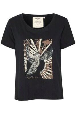 Cream T-shirt / 10608923 Black