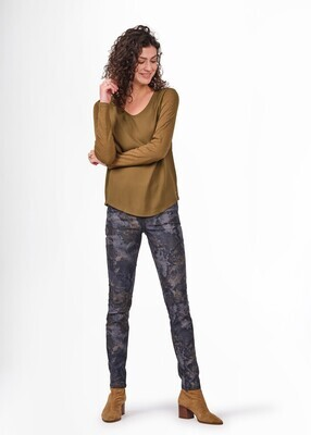 Sandwich Jeans Print / 24001772 Camouflage Green