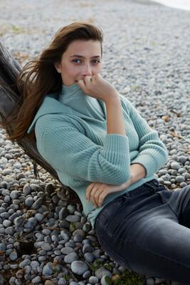 YAYA Sweater 1000481-123 GREEN MILIEU