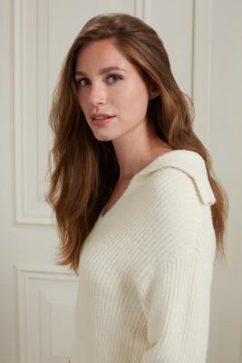 YAYA Sweater 1000481-123 WOOL WHITE