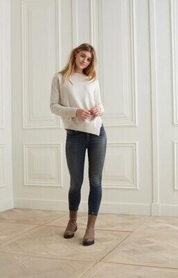 YAYA Sweater Assymmetric 1000491-123 BEIGE MELANGE
