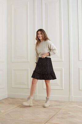 YAYA Skirt mini 1401154-123 NIGHT BLACK DESSIN