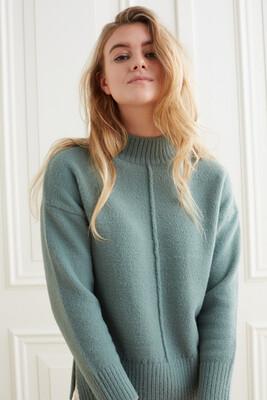YAYA Sweater 1000493-123 DARK FOREST GREEN
