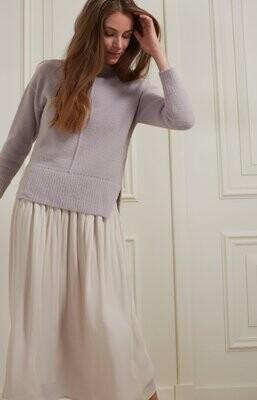 YAYA Sweater 1000493-123 GULL GREY LILAC