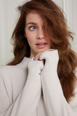YAYA Sweater 1000493-123 WOOL WHITE