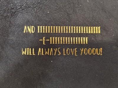 "YAYA card ""Always love you"" / H200020 BLACK"