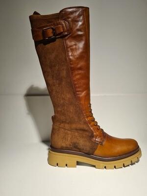 Hispanitas Boots high / HI211956 Cognac