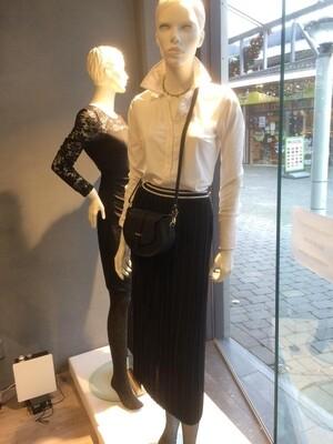 Gf plisse rok recht zwart