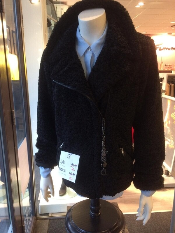 Dct teddy coat zwart