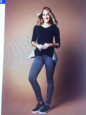 Gf Shirt Lizz zwart-grijs