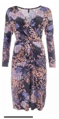 Nd jurk paisley bruin