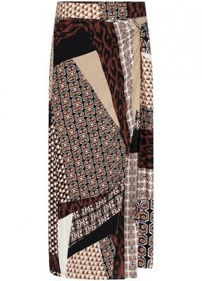 Tram skirt mixed dessin/print