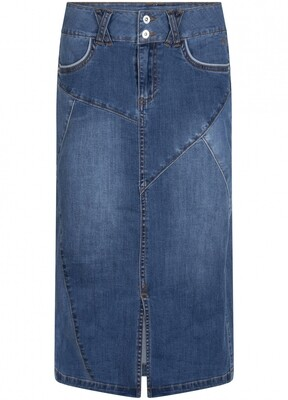 Tram rok midi jeans jeans midden
