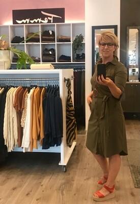 Realize jurk uni olijf groen