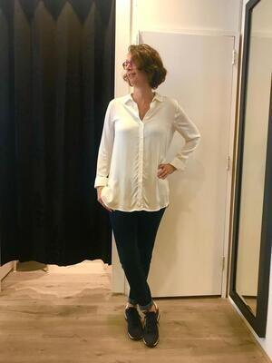 Milano blouse kraag ecru
