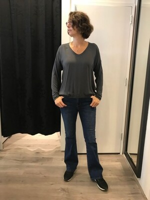Milano shirt glans antraciet