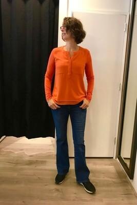 Milano dubbel stof oranje