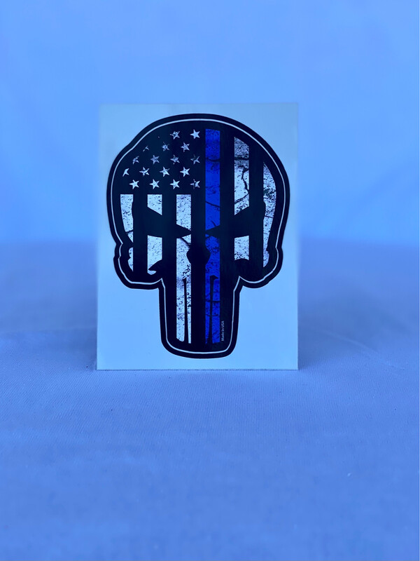 Blue Line Punisher Bumper Sticker