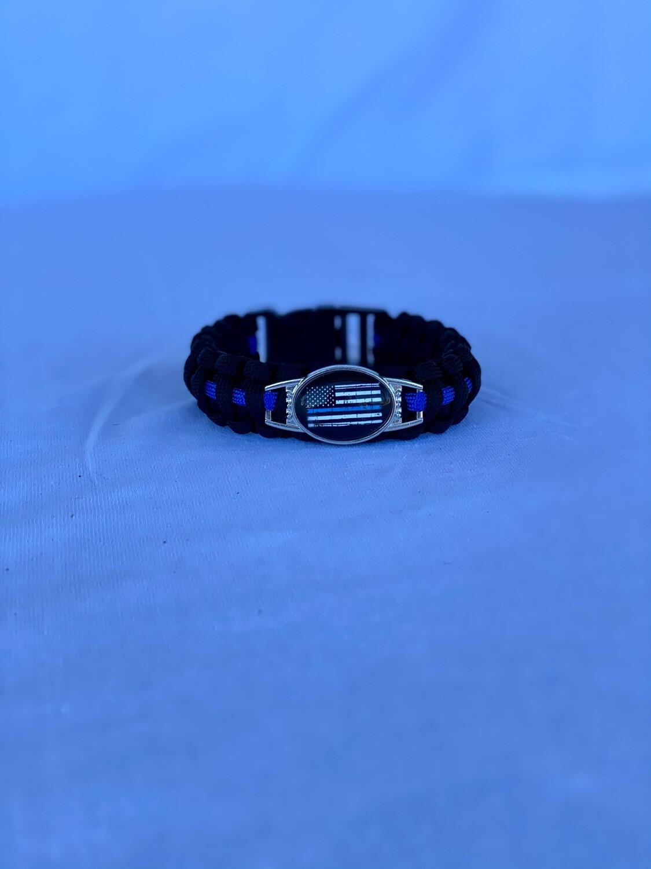 Blue Line Paracord Bracelet