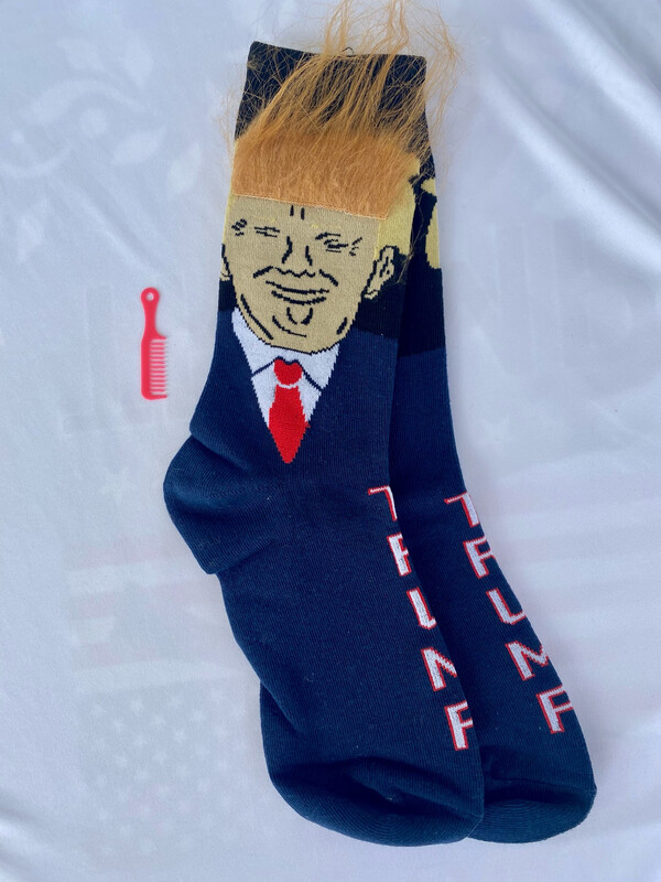 Trump Hair Socks With Comb